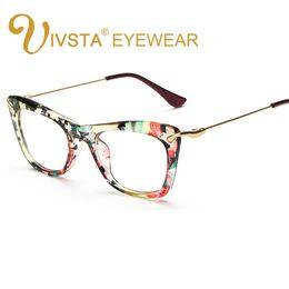 Gafas para animales online-IVSTA Mariposa Mujeres Gafas Marco Gafas Gato Ojo de Gato Lentes Ópticas Gafas Transparentes Grado de Flor Grado Femenino