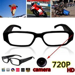 Wholesale spy audio video glasses - HD 720P Spy Sunglasses Camera Mini Audio Video DV Camcorder Gentle Glasses Camera Hidden Pinhole Security Camera