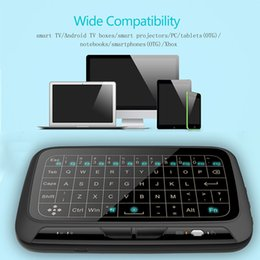 Wholesale full remote - 2.4Ghz H18+ Backlit Mini Wireless Keyboard Full Screen No Alphabet H18 Wireless air mouse and keyboard Touchpad Combo Remote Control