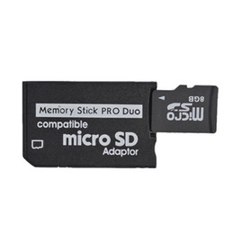 Wholesale memory stick micro reader - Micro SD To MS Pro Duo Adapter Memory Stick Card Reader Wholesale 200pcs Free shipping