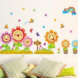 primavera pegatinas de pared linda decoracin de la habitacin de los nios decoracin infantil alrededor girasoles en arte
