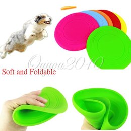 Wholesale Soft Flying Disc Dogs - New Soft Flying Flexible Disc Tooth Resistant Outdoor Large Dog Puppy Pets Training Fetch Toy Silicone Dog Frisbee Wholesale order<$18no tra