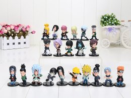 Wholesale Naruto Dolls Toys - Free Shipping Cartoon Anime Naruto 5cm 21pcs set PVC Collectable Figure Model Toys Doll Gifts for kids