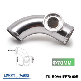 "Wholesale Aluminum Intake Pipe - Tansky - 2.75"" 70mm 90 Degree SSQV SQV Blow Off Valve BOV Adapter Turbo Aluminum Pipe Tube TK-BOV01FP70-90R"