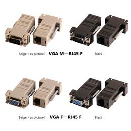 Vente chaude Nouvelle VGA Extender Femelle Au Lan Cat5 Cat5e RJ45 Femelle VGA Mâle à RJ45 Femelle Ethernet Adaptateur ? partir de fabricateur