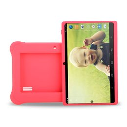 "Wholesale Ebook Covers Case - US Stock! iRULU 7"" Kids Tablet PC A33 Android Tablet Quad Core Dual Cameras Tablets Children Learning Ebook with Silicon Case"