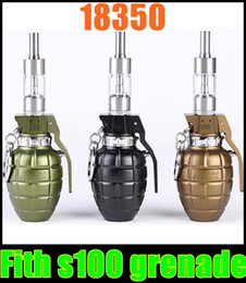 Wholesale Ecig Mods Body - 2015 Promotion New Arrival Fith S100 Grenade Mod Mech Battery Body Fit for 510 Thread Atomizer Rebuildable Ecig 18350 Dhl free Tz259