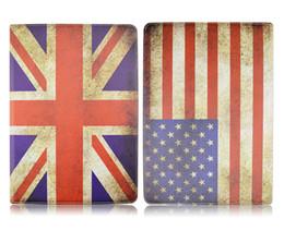Wholesale Ipad Mini Uk Flag Case - Uk USA Flag Prints For iPad Pro 12.9 inch 360 Degree Rotation Stand Case PU Leather Case