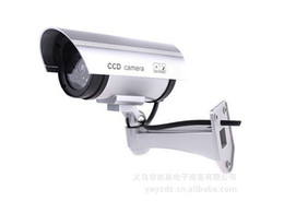 Wholesale Security Looks - Brand New Realistic Looking Waterproof Dummy Fake IR CCD Security Camera for Indoor and Outdoor Free shipping
