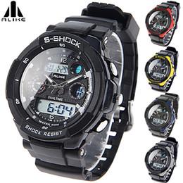Wholesale Watches Sport Digital Alike - ALIKE AK1170 50M Waterproof Digital Analog Quartz Watch Wristwatch Timepiece for Men Male Boy