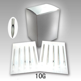 Wholesale Wholesale Piercing Needles - Wholesale-100pcs Sterilized Disposable Stainless Steel Body Piercing Needles 10 Gauge 10G Tattoo equipment Free shipping