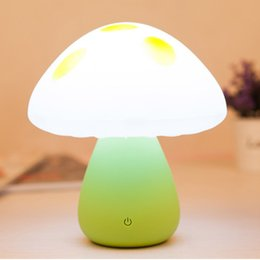Wholesale Mushroom Lamp Diy - Mini Colorful Mushroom Atmosphere lamp LED Childrens Desk Bed Side Touch Night Light Lamp table light novelty light