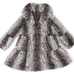 Wholesale Genuine Rabbit Fur Coat - Wholesale-ZDFURS * 2015 autumn wild leopard imitation rabbit fur coat long winter in Europe and America women's genuine Leather grass