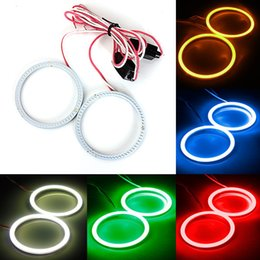Wholesale Halo Ccfl Headlights - New 2x 60MM 66LED COB Bulb Angel Eyes CCFL Headlight Halo Ring Lamp Light 12 24V order<$18no track