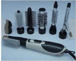Multi-função de secador de cabelo elétrico 7 em 1 conjunto de aparelhos de cabeleireiro Alta potência elétrica pente quente de