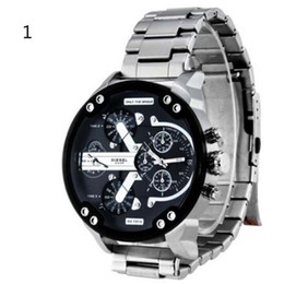 Wholesale Ups Battery Wholesale - Men's Casual Style Waterproof Quartz Wristwatches Alloy Strap Leather Belt Big Dial Watch 12 Styles Free Shipping