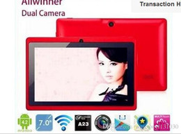 "Wholesale Android Quad Core 16gb - 7"" Allwinner A33 Quad Core Q88 tablet pc android 4.4 1.2GHz 1GB RAM 16GB ROM Bluetooth Wifi 6 colors"