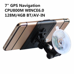 Wholesale Av Navigation - New 7 inch Touch Screen Car GPS Navigation WINCE6.0 CPU 800M+Bluetooth AV-IN+128M 4GB+FM Transmitter+Free latest Maps