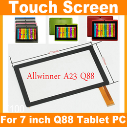 "Wholesale Q88 Digitizer - Replacement 7"" Capacitive Touch Screen Digitizer Panel for 7 inch Allwinner A23 A33 Q8 Q88 Tablet PC JF-A7"