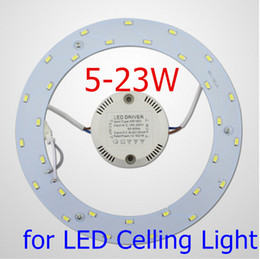 Wholesale Ceiling Boards - Free shipping 5-23W LED Ceiling Light Source AC90-265V SMD5730 LED Round Ceiling Board the Circular Lamp Board