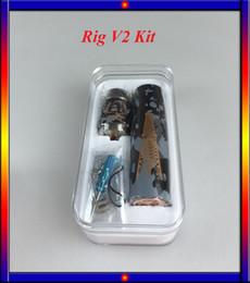 Wholesale Ego Camouflage - Colorful Camouflage Rig V2 Starter Kit Rig V2 Mod Roughneck RDA Atomizer Ecigarette Kit VS Ego one Kit iJust plus subox nano