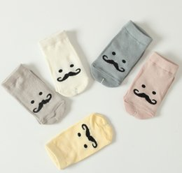 Wholesale Moustache Clothes - 2016 Girls Boys Cute moustache Cartoons Socks Kids Clothes Sock reticular Sock Children Clothing Net Solid Colors Stocking D7105