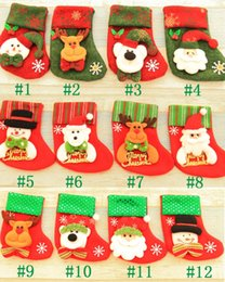 Wholesale Stocking Socks For Kids - Christmas Candy Bag Ornaments Sequins Embellished Non Woven Fabrics Christmas Socks For Kids Christmas Stockings wen4605