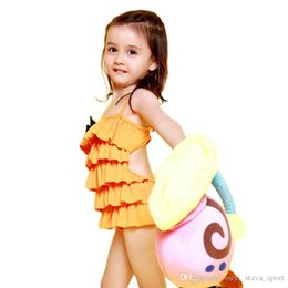 Wholesale Cute Waist Skirts - 2016 Hot Sale One Piece Swimsuit Girls Bathing Suits With Bowknot Kids Swimwear Cute Falbala Skirt Girls Gifts Children Fashional Swimwear