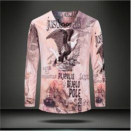Wholesale Mens V Necks T Shirts - Wholesale-3d print mens t shirts fashion 2016 casual v neck long sleeve t shirt men brand funny camisetas hombre Tops Tees Men's Clothing