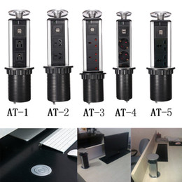 Wholesale Outlet Point - 1 Led + 2 USB + 3 Plug Outlet Pop Up Pull Power Point Socket Kitchen Office Desk Worktop Free Shipping,Wholesale Retail