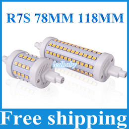 Wholesale R7s 14w 118mm - Brand HOT R7S LED Lamp 7W 14W SMD2835 85-265V 78mm,118mm R7S LED Bulb Lamp Light Dimmable Bright Replace Halogen Lamp