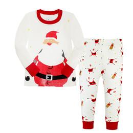 Pijamas de algodón para niños online-Ropa de otoño para niños de primavera conjuntos de algodón niños niñas ropa interior de algodón para niños pijamas para niños al por mayor de una pieza