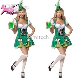 Wholesale Sexy Hot Uniform Maid - Wholesale-women costumes Hot Sale Germany Beer Festival Promotional Clothing maid uniform Charming &Sexy Low Bosom servant cosplay FM008
