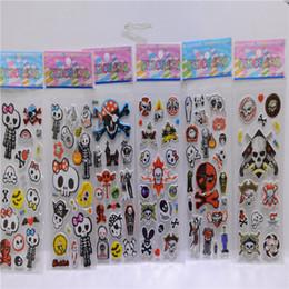 Wholesale Bubble Toys For Children - Spider-Man, skull sticker PVC sticker 3D cartoon bubble wall stickers wallpaper stickers children girls and boys gifts and toys for children