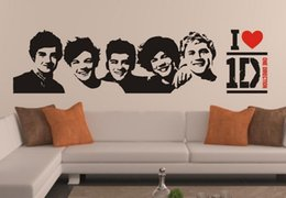 Wholesale 1d Direction - One Direction 1D wall stickers Decal Removable Home Decor for Kids Room