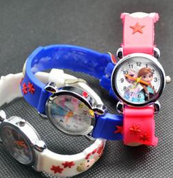 Wholesale Girls 3d Watches - Children Girl Wrist Watches 3D Cartoon Watch Kids Cool watch Frozen Ultraman animal Spiderman Snow White Kid watches