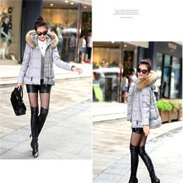 Wholesale Collor Fur - Women Fashion duck down fur collor down parka candy colors winter jacket women 2015 new arrival hoodies outwear WJ916