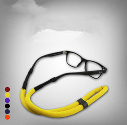 Wholesale Sport Straps For Glasses - Floating Swimming Sport Sunglasses Strap Nylon Eyewear Glasses Cord Chain String Holder for diving 24pcs Lot