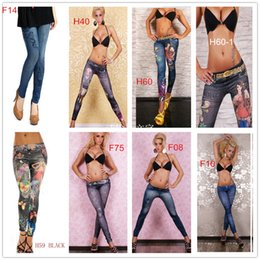 Wholesale Wholesale Priced Jeggings - 2014 Sexy Women's Foral Print Leggings Jeggings Mix Order cheap price