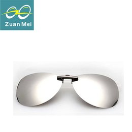 Wholesale Uva Uvb Sunglasses - Wholesale-High quality Polarized Clip On Sunglasses Driving Night Vision Lens Sun Glasses Anti-UVA Anti-UVB For Women & Men