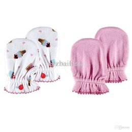 Wholesale Baby Mittens Scratch - Wholesale-USA Luvable Freinds 100% Super Soft Cotton Baby Mitten Four Seasons Anti Scratching Gloves Newborn Safety Gloves 0-6Months