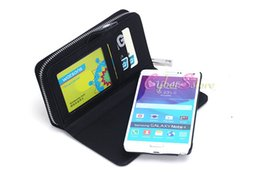 Wholesale Bag Phone Galaxy S4 - For Galaxy Note 4 S5 S4 S3 Multi-functional Zipper Billfold Wallet Leather Phone Case Bag with Card Slot Money Pocket for Samsung