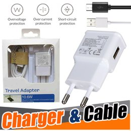 Wholesale Wholesale Iphone Travel Kits - 2 in 1 EU US Plug Adapter Wall Charger Travel Charging Kits Micro USB Cable 2.0 Data Sync Cable For Android Samsung S8 S7 Note 8 iPhone X 8