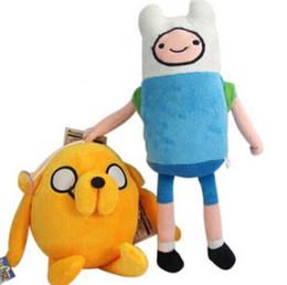 Wholesale Adventure Time Plush Jake - Anime Adventure Time Finn Jake Plush Doll 11 inch figure Stuffed animals Movice Cartoon Toy Anime plush Free Shipping