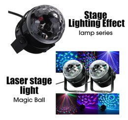 Wholesale Crystal Strobe Christmas Lights - 2015 Christmas Light Voice control Mini RGB LED Crystal Magic Ball Stage Effect Lighting Lamp Bulb Party Disco Club DJ Light Show