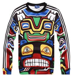 Wholesale Modelling Maya - Maya Indian totem hoodies for men boy thin style o neck long sleeve Hot model sweatshirt size M-XL