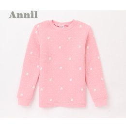 Wholesale Boys Thermal Underwear 12 - Wholesale-Annil girls autumn 2016 new winter thermal underwear shirt thick long johns JG547562 counter genuine