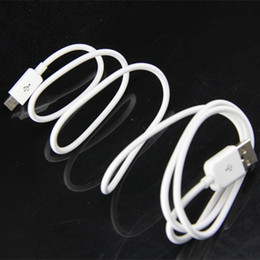 Wholesale Mobile Phones S4 - 1m 3ft V8 white Micro round Data Sync USB Charging Cable for samsung s3 s4 s5 Adapter for Mobile Phone