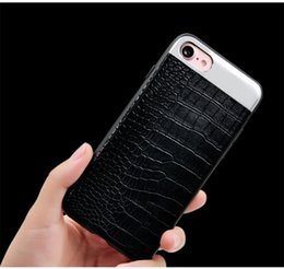Wholesale Iphone Crocodile Leather - Luxury Crocodile Snake Leather Phone Case For Iphone x Apple 8 7Plus Back Cover Phone Shell Shockproof 4.7 5.5 inches screen
