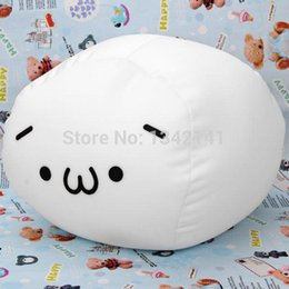 Wholesale Japanese Child Dolls - Attractive Soft Stuffed Medium Size Bean Curd Shaped Japanese Emoticon Cushion Pillow Stuffed Plush Toy Doll Decorative Pillows